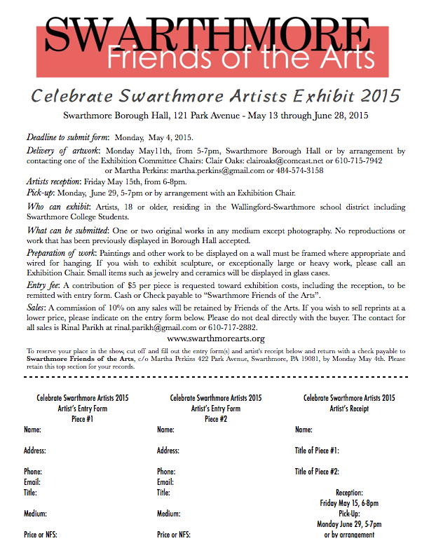 Call for entries 2015