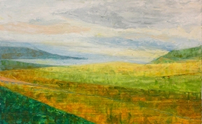 Wei, Untitled_Landscape 3, oil on paper