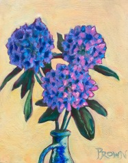 Pete Prown - Rhododendrons (oil, 16x20)