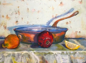 Pete Prown - Still Life with Pomegranate (oil, 12x16)